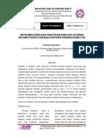 Instrumen Penilaian Praktikum Kimia Dan Estimasi Reliabilitasnya Dengan Koefisien Generalisabilitas