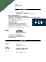 JRU Format of Resume