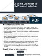 Supply Chain Coordination Problems in Dairy Industry