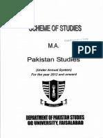 MA Pakistan Studies