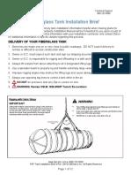 fiberglass tank instaalation