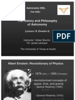 The History and Philosophy of Astronomy Lecture 19