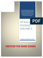Puzzles for Bank Exams Vol - 1