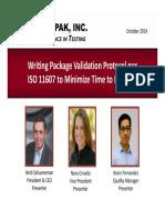 Protocol Development according to ISO 11607