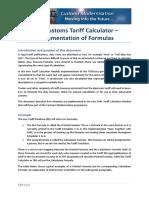 SARS Tariff Formula 101