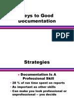 Keys to Good Documentation