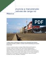 Alstom Anuncia a Manutenção de Locomotivas de Carga No México