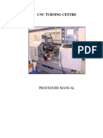 CNC Turning Centre Manual