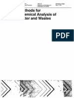 EPA 600-4!79!020 Methods for Chemical Analysis of Water and Wastes