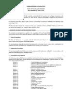 Notes to Financial Statement-cordillera Kidney