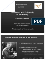 The History and Philosophy of Astronomy Lecture 21