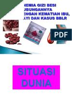 Tablet Besi, Anemia kaitan dg Kematian & BBLR-Gernas Ende 2015.ppt