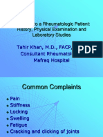 Approach to a Rheumatologic Patient
