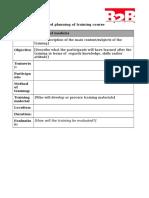 Pilot Phase b 2 b Training Module Description