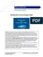 Introduccion a La Ley de Aqua LimpiaUSA