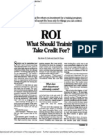 46. ROI What Should Training Take Credit For