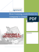 How Training Contributes to Company's Competitiveness