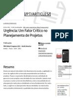 Artigos_ Urgência_ Um Fator Crítico no Planejamento de Projetos – Ricardo Viana Vargas.pdf