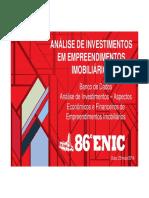 Analise de Investimentos Em Empreendimento Imobiliários