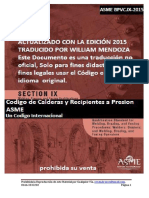 Código Asme, Sección Ix, Parte Qw en Español-2015(Ultima)