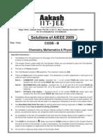 Aakash AIEEE 2009 Solutions