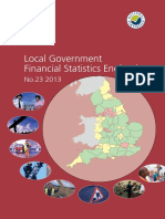 Local Government Financial Statistics England Nº 23-2013