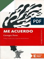 Me Acuerdo - Georges Perec