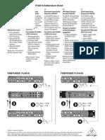Behringer Firepower Fca1616 Instruction Sheet 751812