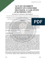 Impact of Celebrity Endorsement on Consumer Buying Behaviour a Case Study of Bathinda City Ijariie6170