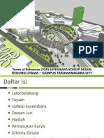 Update TOR Sayembara Disain Gedung Utama - 01 07 2017