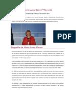 Homenaje a María Luisa Conde Villaverde