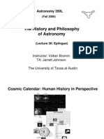 The History and Philosophy of Astronomy Lecture 26
