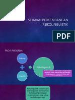 Sejarah Perkembangan PSikolinguistik