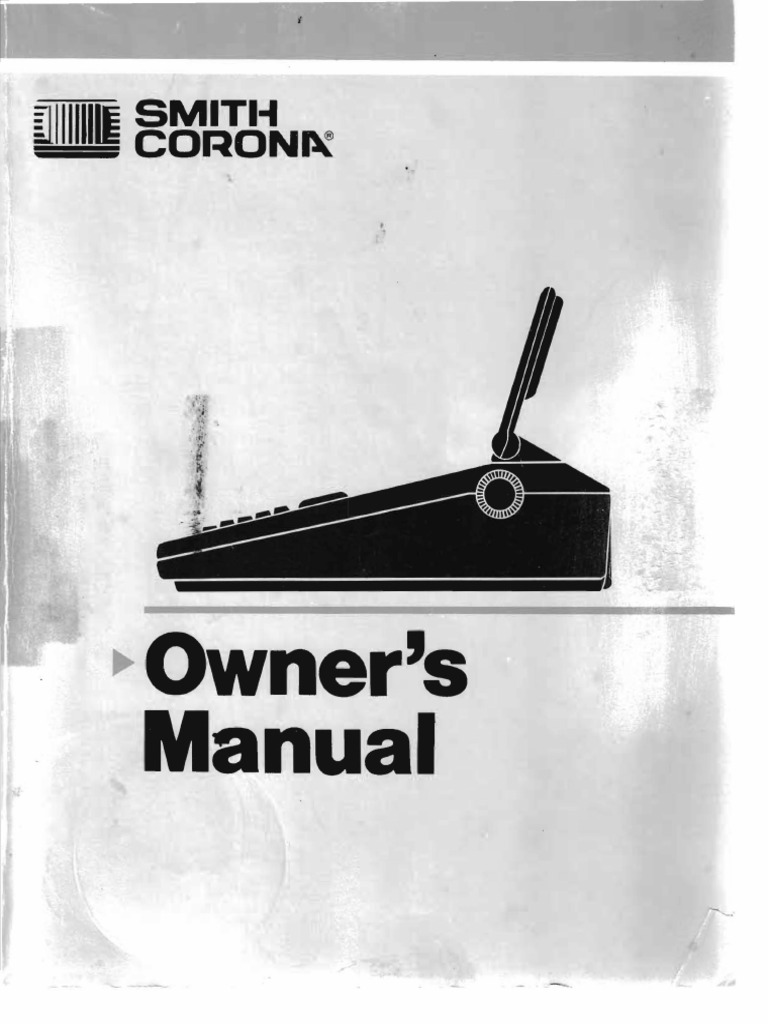 Smith Corona PWP3 Manual | Word Processor | Electromagnetic Interference