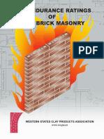 Fire Endurance Rating Clay Brick Masonry Wscpa