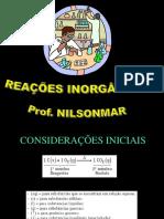 REAÇÕES QUÍMICAS - INORGÂNICAS