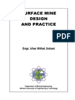 Surface Mine Design and Practice