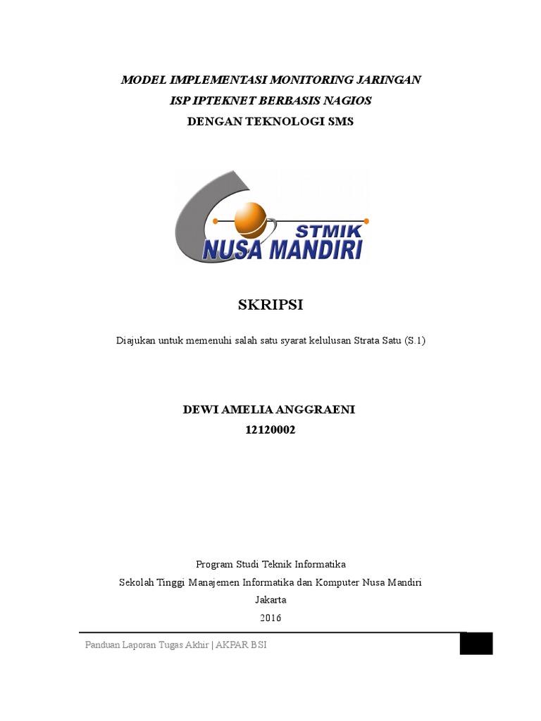 Contoh Template Bagian Depan Stmik Nusa Mandiri Rev2016