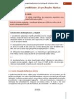 Capítulo 4 Responsabilidades e Especificações Técnicas