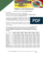 Carta Publica Al Presidente de La Republica Caso Aumento 1 de Octubre 2017