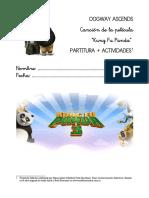 Kung Fu Panda 3 actividades + partitura