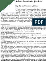 Ravier Francois de Sales a L_ecole Des Jesuites 17pages