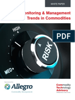 Risk Monitoring and Management Trends In Commodities