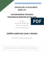 ENSAYO ESPÍRITU SANTO EN LUCAS-HECHOS MISAEL RAMIREZ