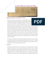Carta Inédita de Jacques de Molay