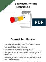 Memo & Report Writing Techniques