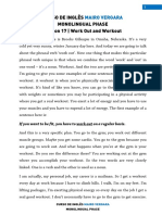 Lesson 17 - Work Out and Workout
