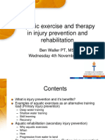 Aquatic Exercise and Therapy Ben Waller