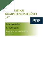 H AMAT0801 Diák Mf 1félév