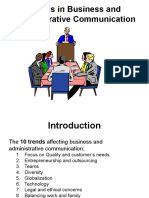 Trends in Business and Administrative Communication
